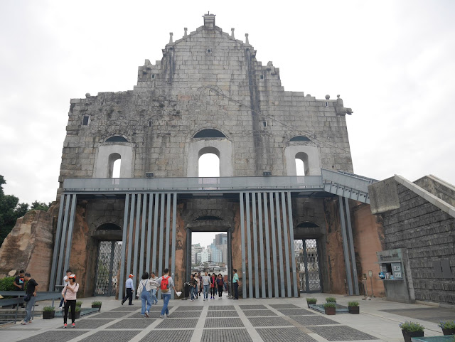 old church st, paul's ruins in Macau