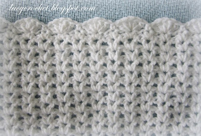Free Crochet Pattern V Stitch : Lacy Crochet: V-Stitch Baby Afghan with Scalloped Trim