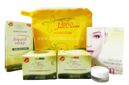 Florin Skin Care Paket Normal = Cream Siang + Cream Malam + Sabun Florin + Anti Iritasi