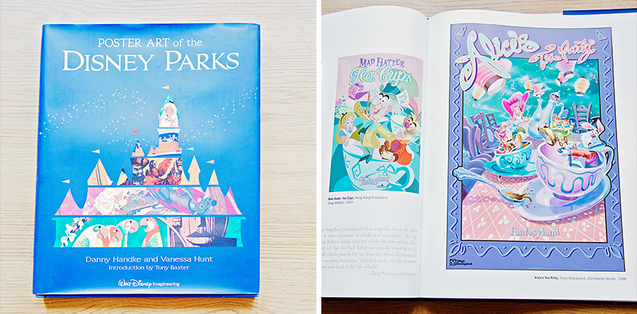 A flatly image of the Poster Art of the Disney Parks book.