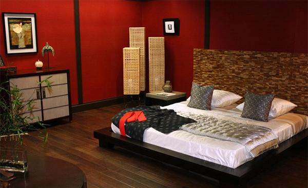 contoh kamar tidur bertema oriental ~ Design Rumah