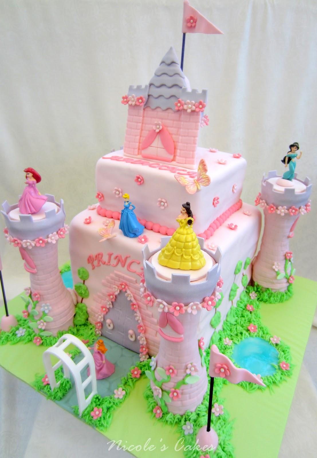 On Birthday Cakes Princess Castle Cake