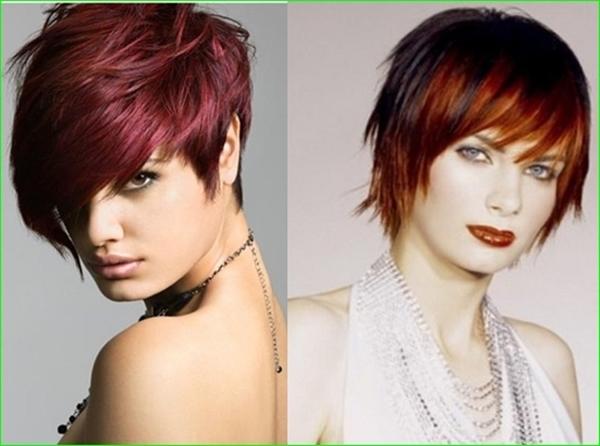 Stufige Pixie Frisur für rote Haare