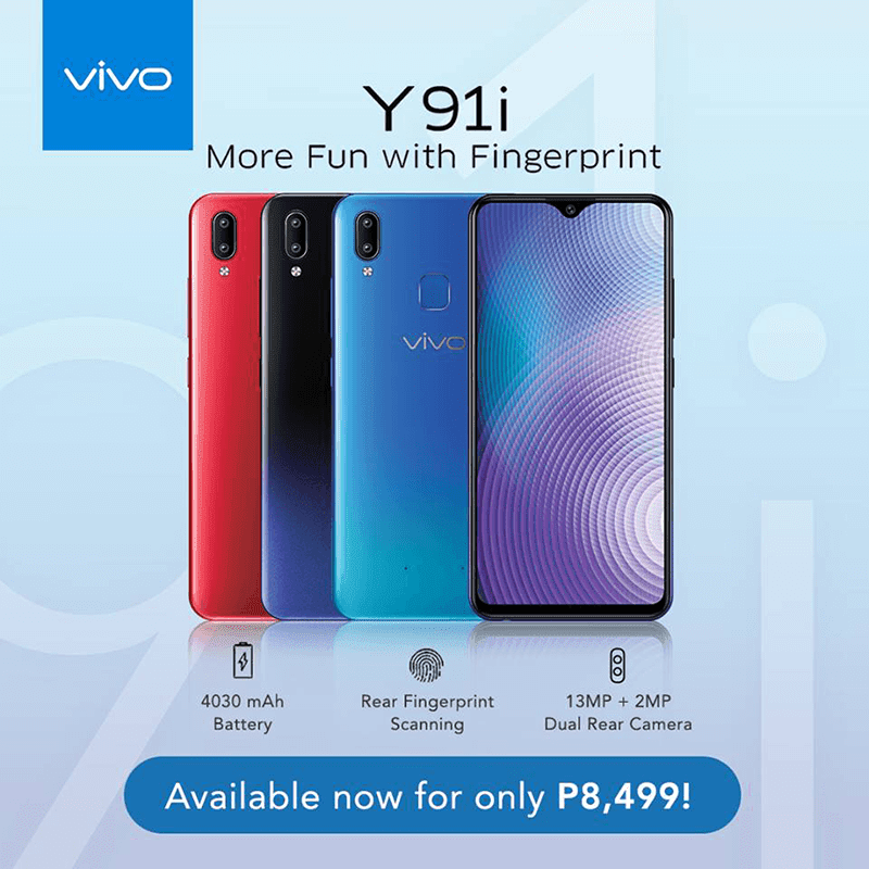 Vivo Y91i now in the Philippines, the most affordable with halo notch!