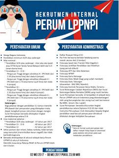 Lowongan Kerja BUMN Terbaru Rekrutmen Internal Perum LPPNPI Minimal SMA Tahun 2017