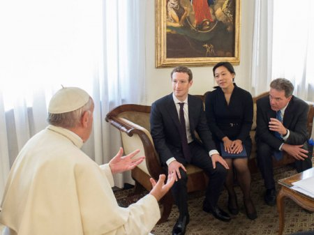 Mark Zuckerberg and Wife Visit Pope Francis
