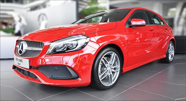 Đầu xe Mercedes A250 2019 thiết kế cản trước thể thao AMG