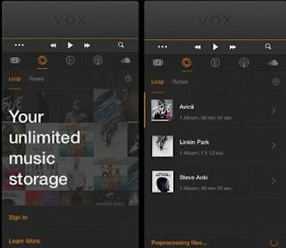 pemutar Musik Untuk Apple iPhone iPad Vox Music Player