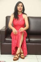Sakshi Kakkar in Red Legsplit Sleeveless Gown at Dare movie Press meet ~  Exclusive 075.JPG