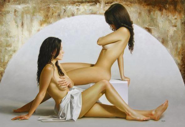 Lua - Omar Ortiz | Pintura Sensual Hiper-Realista  - Mexicano