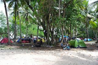 tempat mendirikan tenda pulau pasumpahan padang