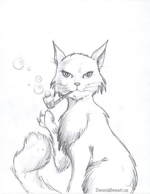 Sophisticat - Cat drawing