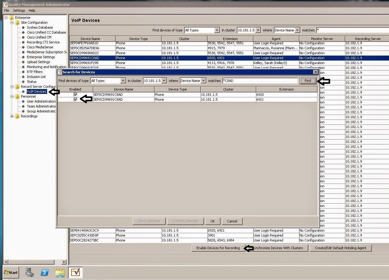 Web Maxtor: Cisco CUCM BIB / Built In Bridge and WFO QM / Quality