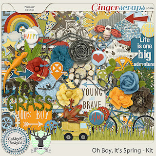 Oh Boy It's Spring by CathyK Designs & Dear Friends Designs