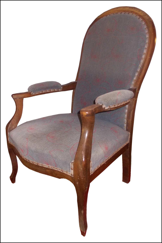 renat 39 art fauteuil voltaire rouge et miel. Black Bedroom Furniture Sets. Home Design Ideas