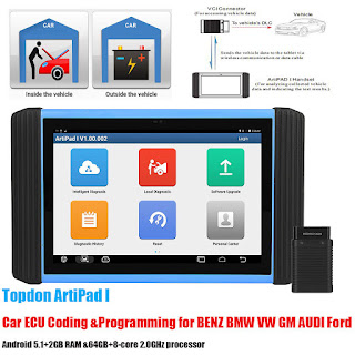 ArtiPad I, the only one Diagnostic Tool Combination with Car