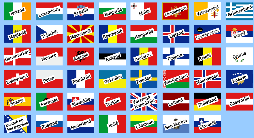 Super Gietjes Weetjes: Vlaggen van Europa MX-06