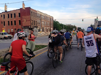 Baltimore bike party in Sandtown on May 29 2015