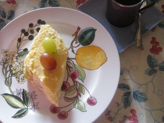 Tarta rápida de uvas