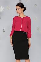 Bluza Dolly rosie cu buline