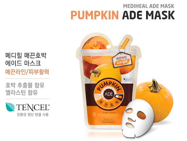 7. Mặt nạ Mediheal Pumpkin Ade Mask