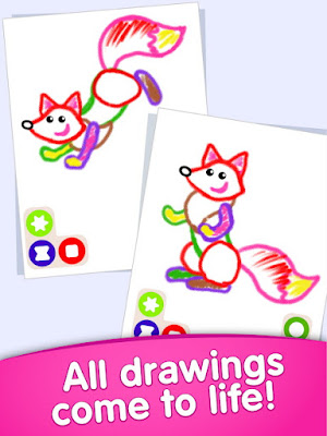 Bini DRAW & DANCE! Painting Toddler Coloring Apps