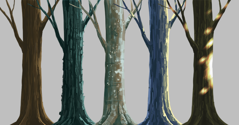 tree trunk tutorial