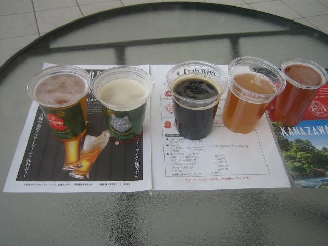 5種の金沢ビール