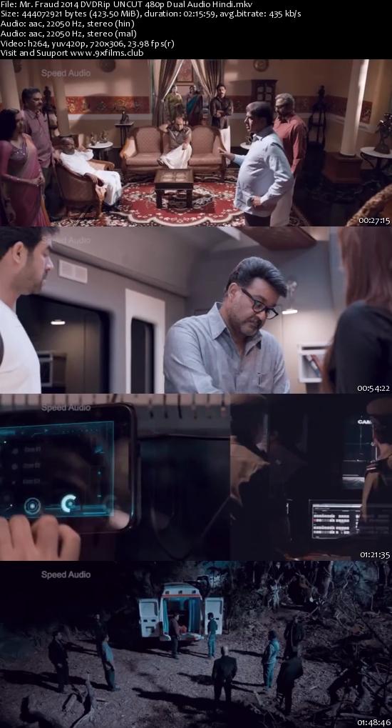 Mr. Fraud 2014 DVDRip UNCUT 480p Dual Audio Hindi