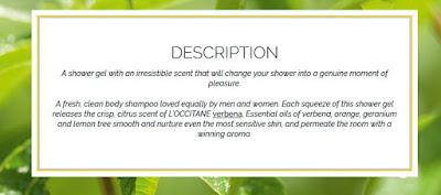 About L'Occitane Verbena Shower Gel