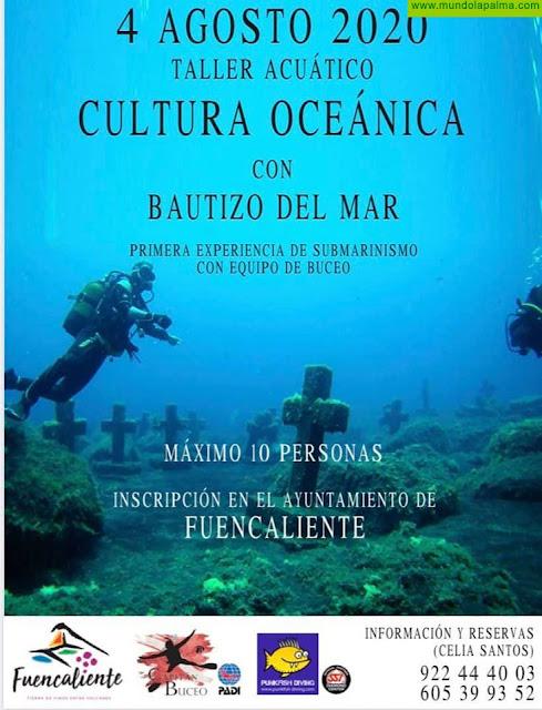 """Taller Acuático """"Cultura Oceánica"""" con Bautizo del Mar"""