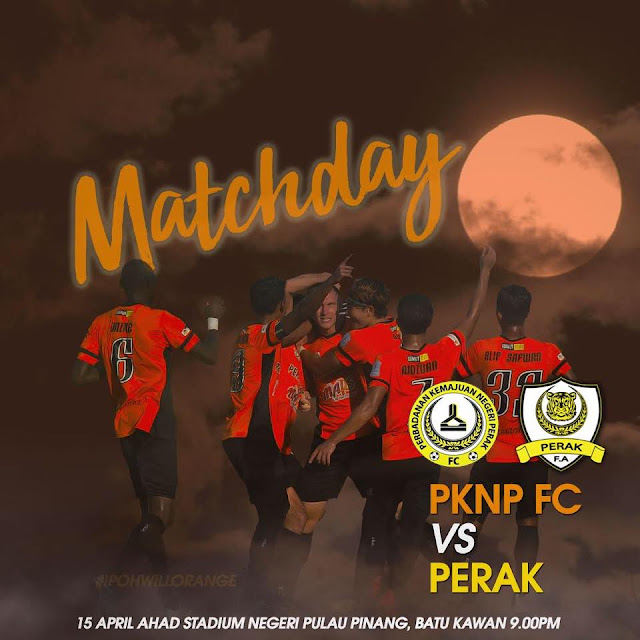 Live Streaming Perak Vs PKNP 15 April 2018