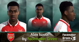 PES 2013 Alex Iwobi Face by Facemaker Green