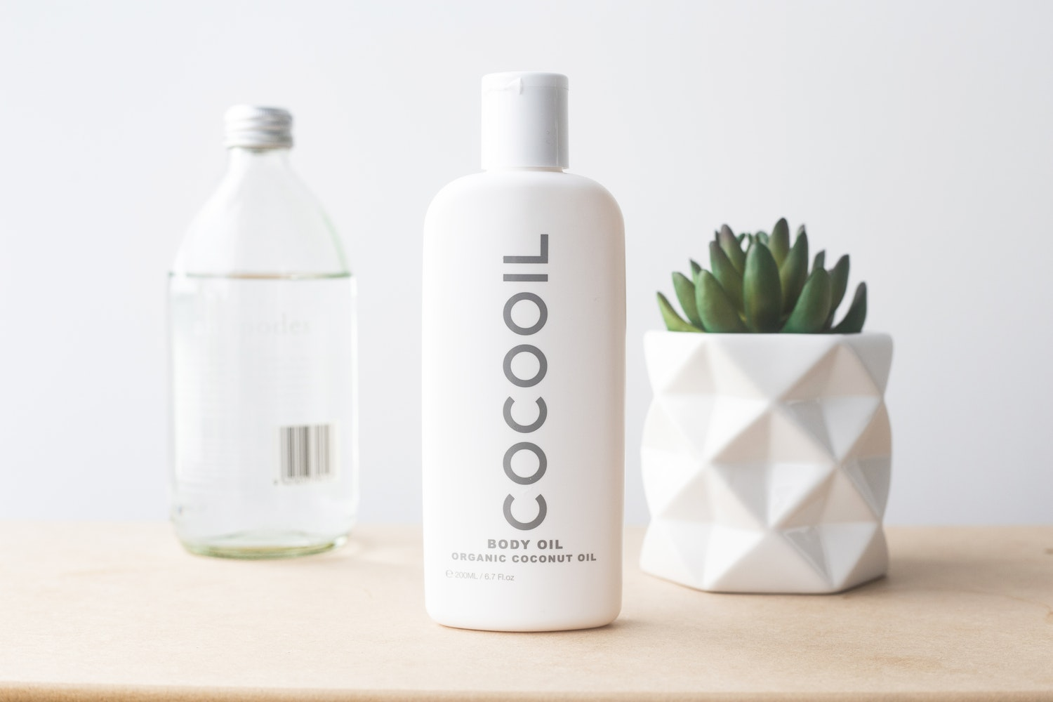 a bottle of coconut oil for skin care