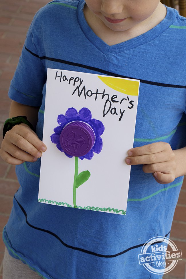 Kindergarten and mooneyisms easy 3 d mother 39 s day card for Preschool mothers day cards