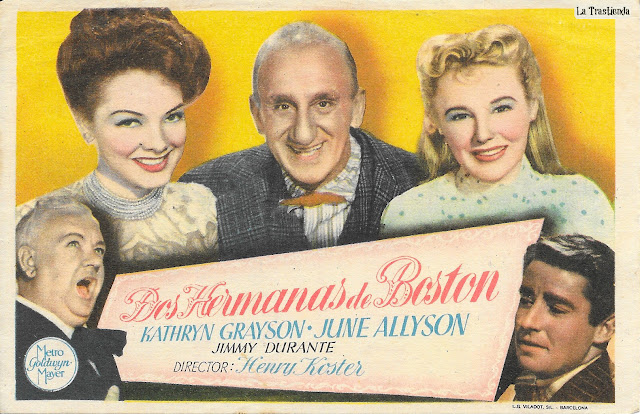 Dos Hermanas de Boston - Programa de Mano - Kathryn Grayson - June Allyson - Jimmy Durante