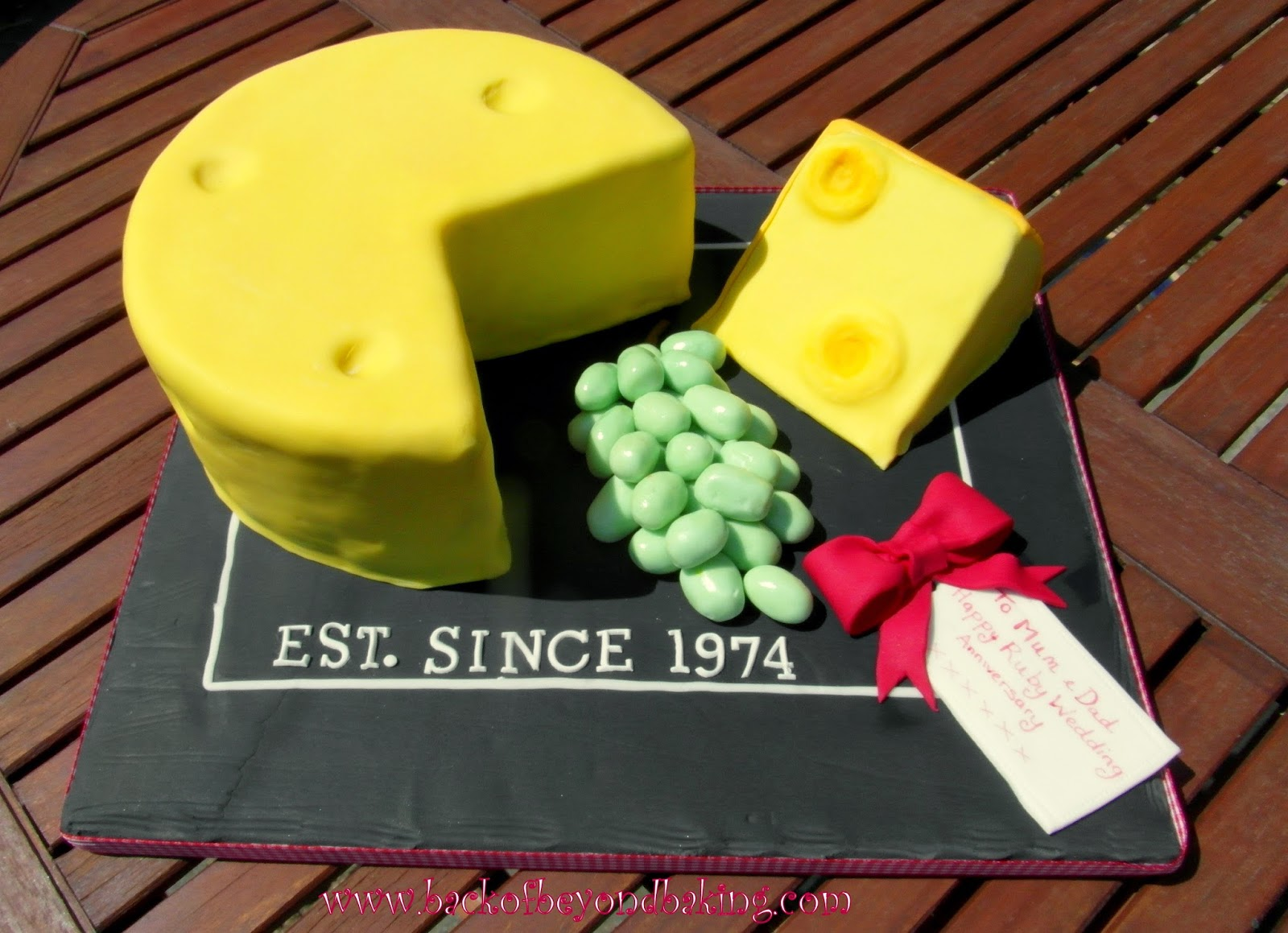 cheese board anniversary cake