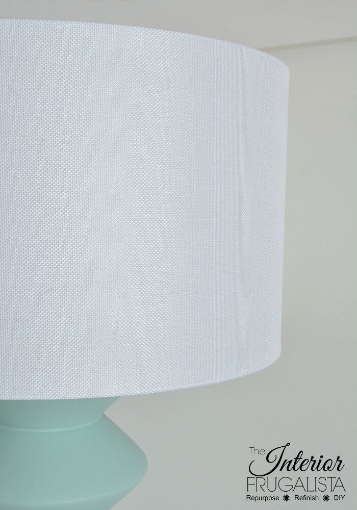 DIY Geometric Lamp White Drum Shade