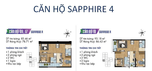 Căn hộ số 09, 10 tòa Sapphire 4- Goldmark City