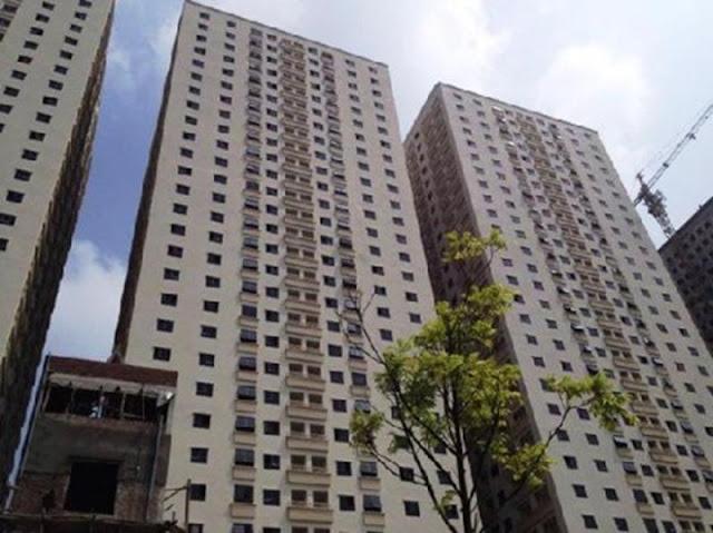 Mặt chính tòa nhà chung cư CT10B Đại Thanh, Thanh Trì, Hà Nội
