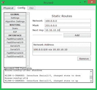 Konfigurasi dua router