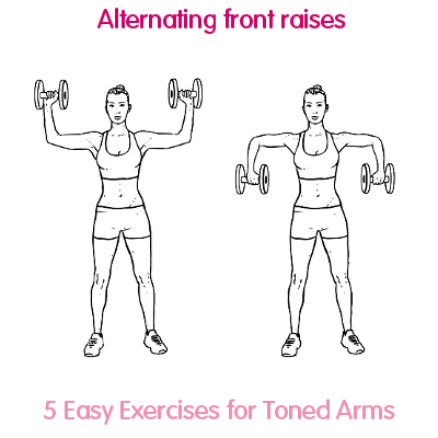 Alternating front raises