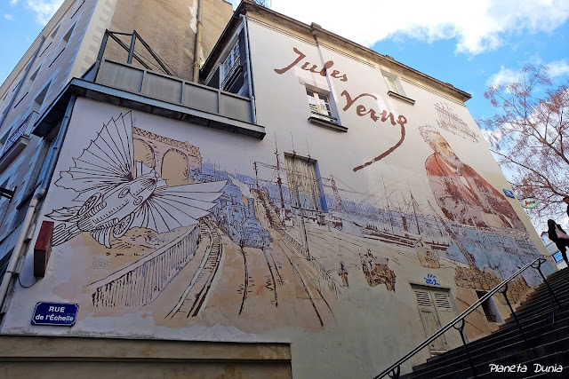 Fresco sobre Jules Verne