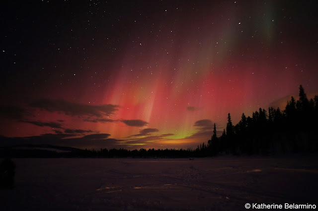 Red and Orange Northern Lights
