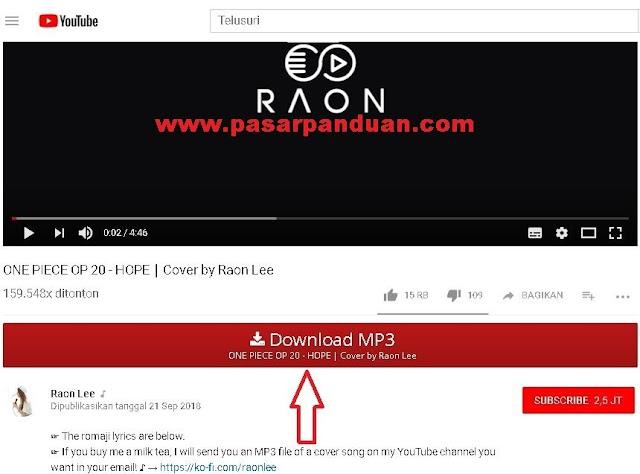 cara download lagu atau mp3 dari youtube dengan addon/ekstensi browser