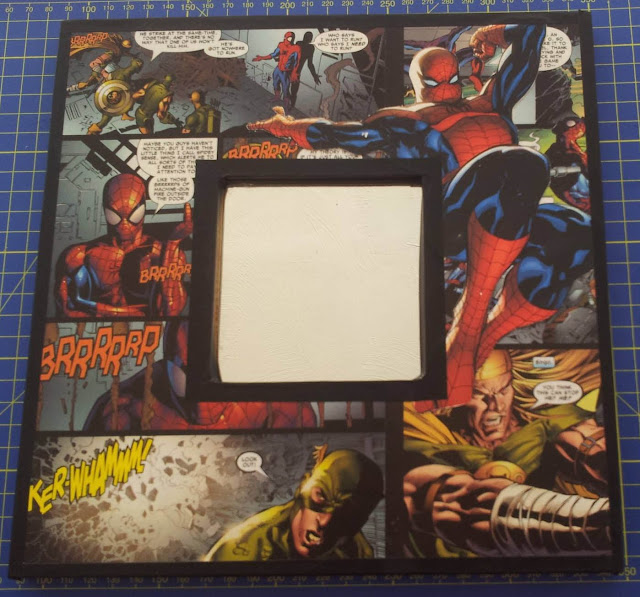 How to decoupage a spiderman mirror