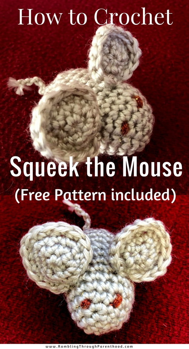 Here is a fun and easy free pattern to crochet Squeek the Mouse. Squeek will make the perfect hand-crafted Christening or Birthday present, a lovingly hand-made Christmas stocking filler or Easter basket gift or just a lovely random present for any age.