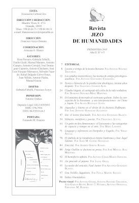 Revista Jizo de Humanidades: cuarto número, Ancile