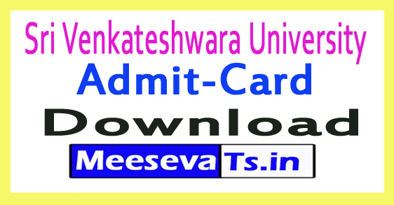Sri Venkateshwara University SVU PG Exam Hall Tickets 2017