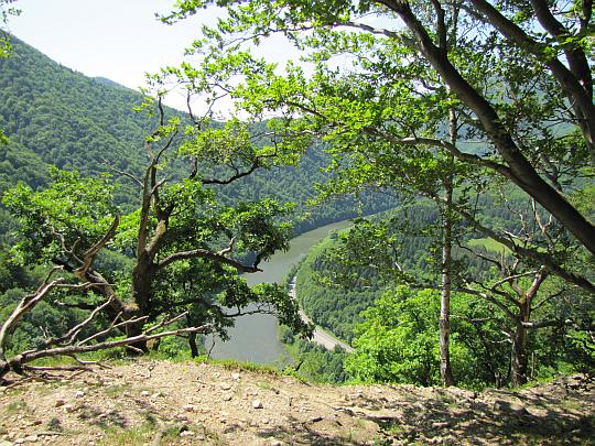 Strečniansky priesmyk - meander rzeki Wag.